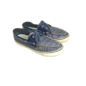 Sperry Womens Top Sider Sparkle Boat Shoes 10 M
